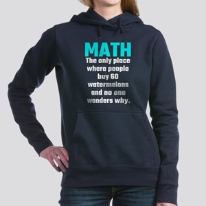 Math The Only Place Wher Women's Hooded Sweatshirt