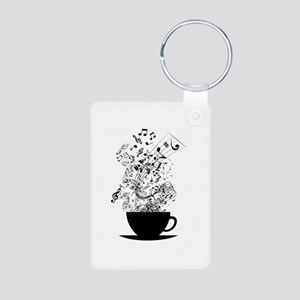 Cup of Music Keychains