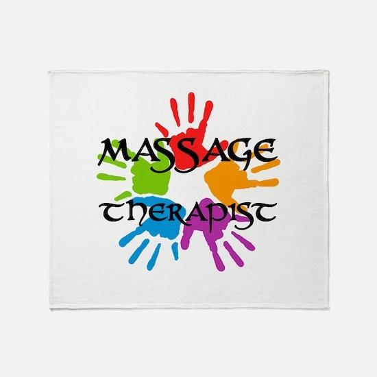 Massage Therapist Throw Blanket