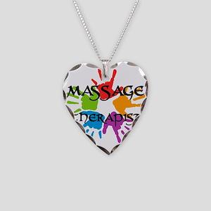 Massage Therapist Necklace Heart Charm