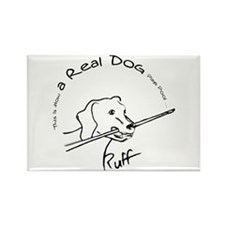 Real Pool Dog Rectangle Magnet (10 pack)