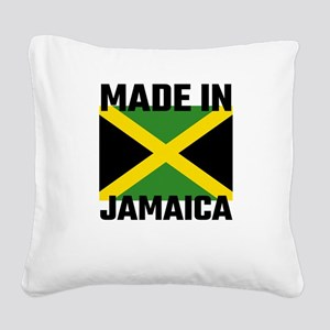 Made In Jamaica Square Canvas Pillow