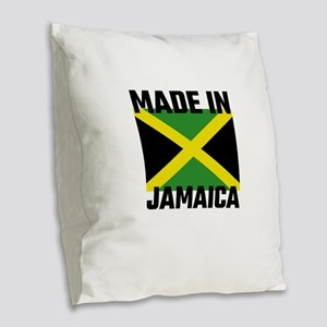 Made In Jamaica Burlap Throw Pillow