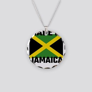 Made In Jamaica Necklace Circle Charm