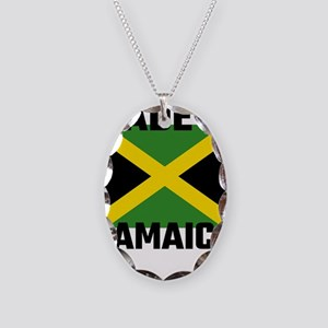Made In Jamaica Necklace Oval Charm