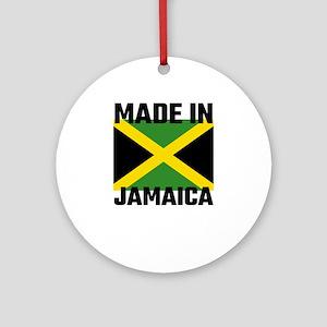 Made In Jamaica Round Ornament