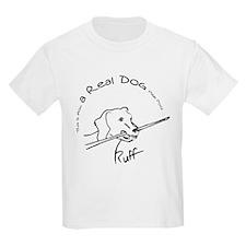 Real Pool Dog Kids Light T-Shirt
