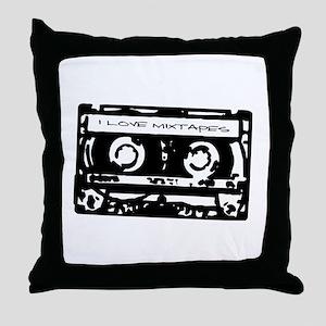 I Love Mixtapes Throw Pillow