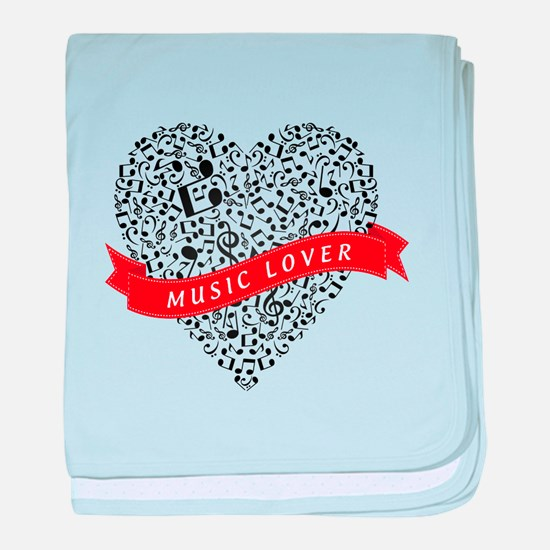 Music Lover baby blanket