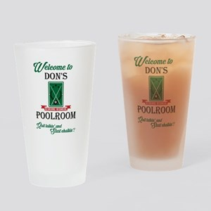 DON'S POOLROOM Drinking Glass