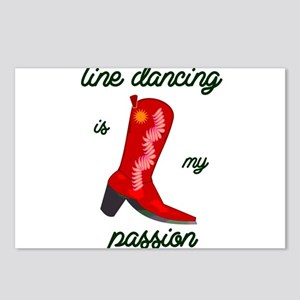 line dancing is my passio Postcards (Package of 8)