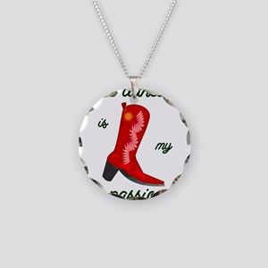 line dancing is my passion Necklace Circle Charm