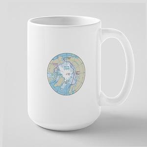 Arctic Circle Map Large Mug
