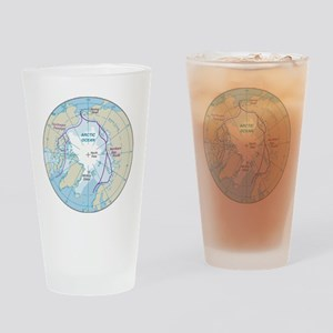 Arctic Circle Map Drinking Glass