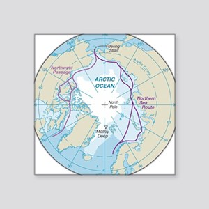 Arctic Circle Map Sticker