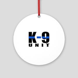 K-9 Unit Blue Line Ornament (Round)