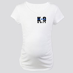 K-9 Unit Blue Line Maternity T-Shirt