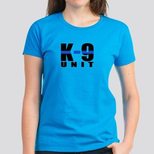 K-9 Unit Blue Line Women's Dark T-Shirt