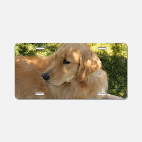 Unique Retriever Aluminum License Plate