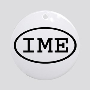 IME Oval Ornament (Round)