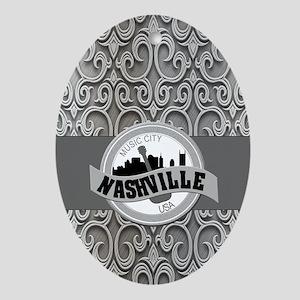 Nashville Music City-SG5-01 Oval Ornament