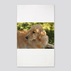 golden retriever grass Area Rug
