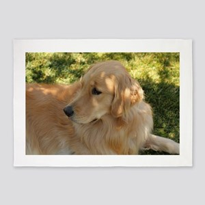 golden retriever grass 5'x7'Area Rug