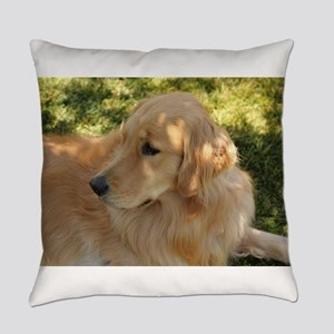 golden retriever grass Everyday Pillow