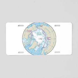 Arctic Circle Map Aluminum License Plate