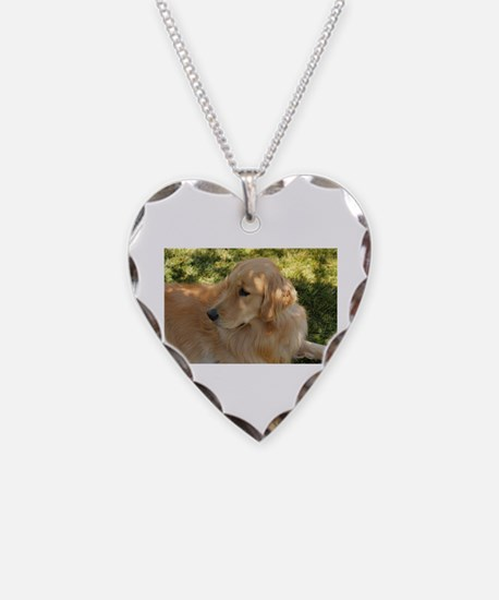golden retriever grass Necklace