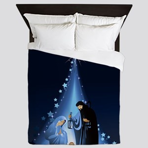 Nativity scene Queen Duvet