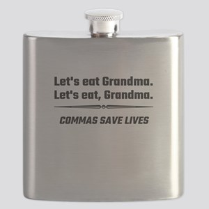 Let's Eat Grandma Commas Save Lives Flask