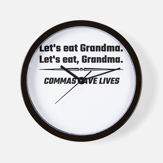Let's Eat Grandma Commas Save Lives Wall Clock