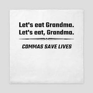 Let's Eat Grandma Commas Save Lives Queen Duvet