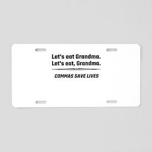 Let's Eat Grandma Commas Sa Aluminum License Plate