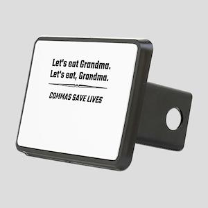 Let's Eat Grandma Commas S Rectangular Hitch Cover