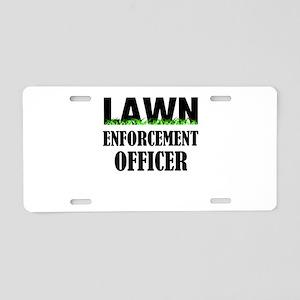 Lawn Enforcement Officer Aluminum License Plate