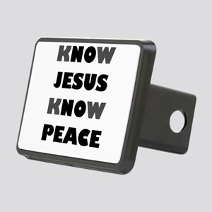 KNOW JESUS KNOW PEACE Rectangular Hitch Cover