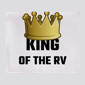 King Of The RV Throw Blanket