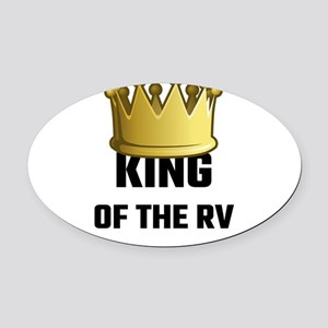 King Of The RV Oval Car Magnet