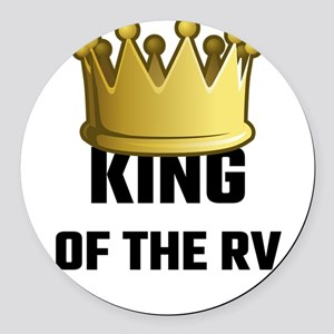 King Of The RV Round Car Magnet