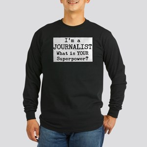 journalist Long Sleeve Dark T-Shirt