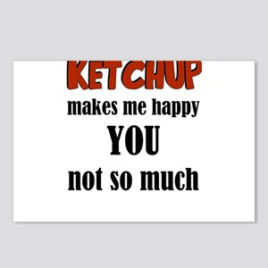 Ketchup Makes Me Happy Yo Postcards (Package of 8)