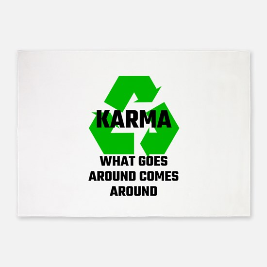 Karma What Goes Around Comes Around 5'x7'Area Rug