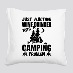 Just Another Wine Drinker Wit Square Canvas Pillow