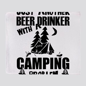 Just Another Beer Drinker With A Cam Throw Blanket