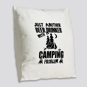 Just Another Beer Drinker With Burlap Throw Pillow