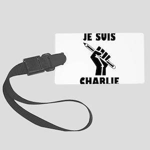 JE SUIS CHARLIE Large Luggage Tag