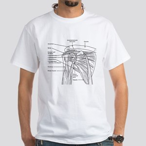 Shoulder Joint White T-Shirt