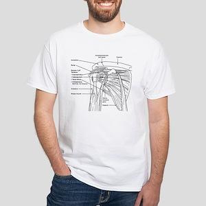 Shoulder Joint White T-Shirt